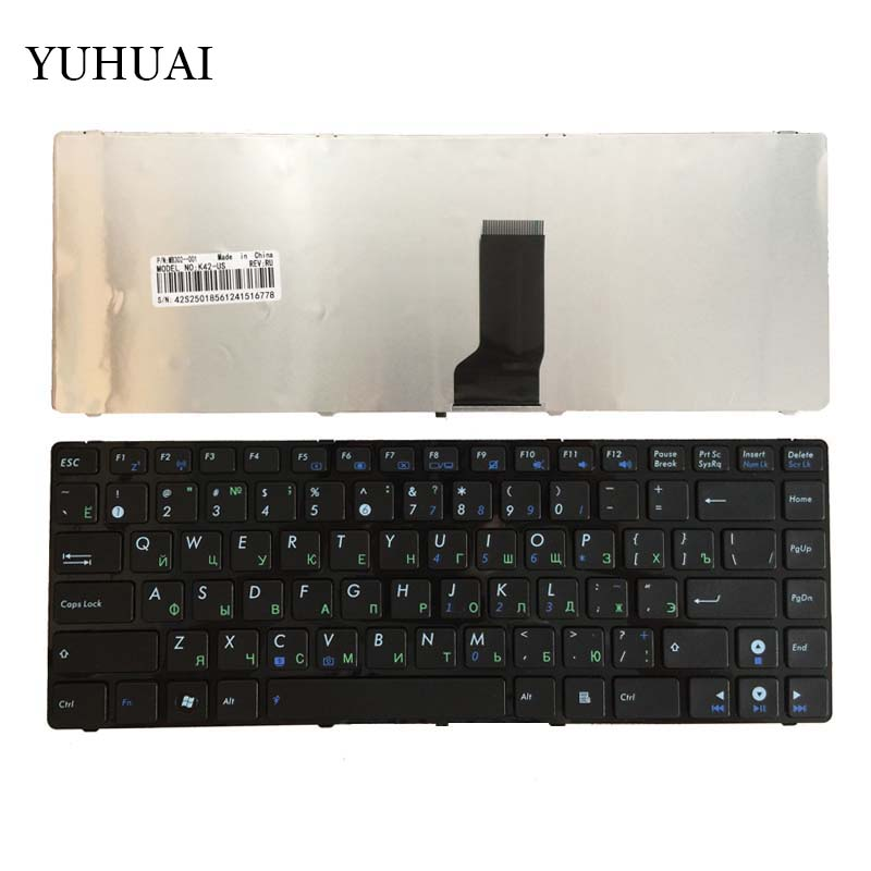 Russian Keyboard for ASUS N82 N82J N82JQ N82JG N82JV K43SJ K43SM K43S X43 A42 A42D A42J RU Black