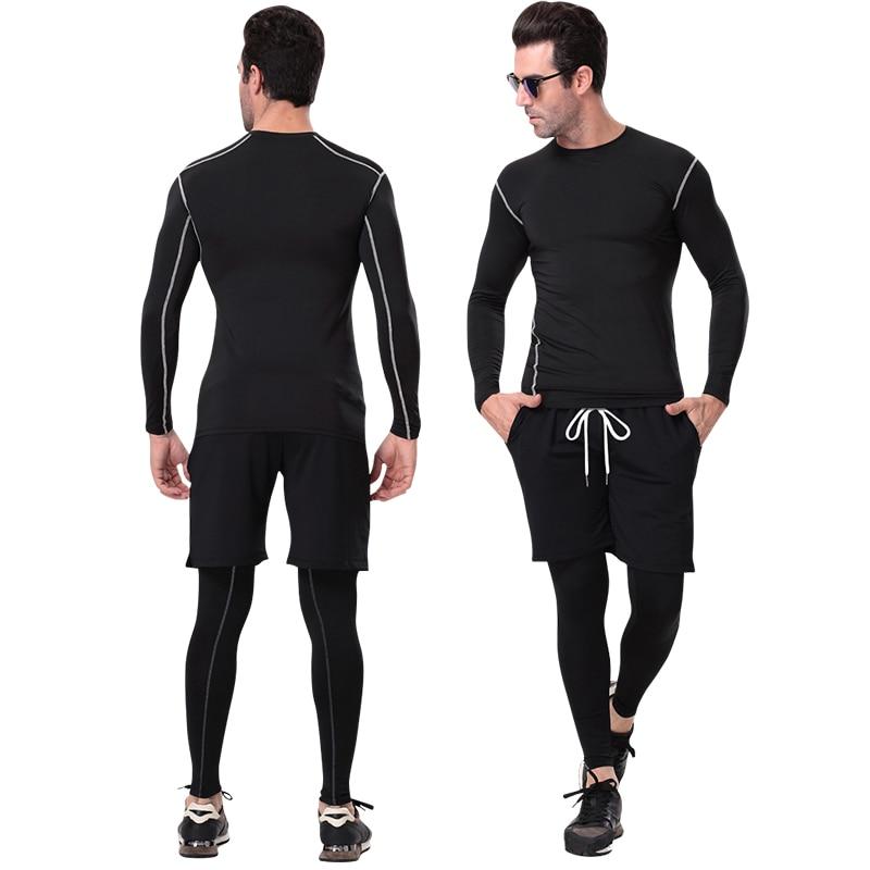 Yuerlian Quick Dry Compression Laufshirt Enge Trikots Fitness Sport - Sportbekleidung und Accessoires - Foto 2