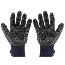 1 Pair Pet Grooming Gloves Dog Cat Hair Cleaning Brush Comb Black Rubber Five Fingers Deshedding Pet Glove For Dog Cat Dropship