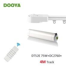 Dooya سوبر الصامت الستار القضبان نظام ، DT52E 75 W + 4 M أو أقل المسار + DC2760 ، RF433 عن تحكم ، ستارة أوتوماتيكية التحكم كيت