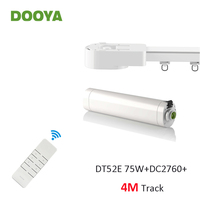 Dooya Super Silent Curtain Rails System, DT52E 75W+4M or Less Track+DC2760,RF433 Remote Controller,Automatic Curtain Control Kit