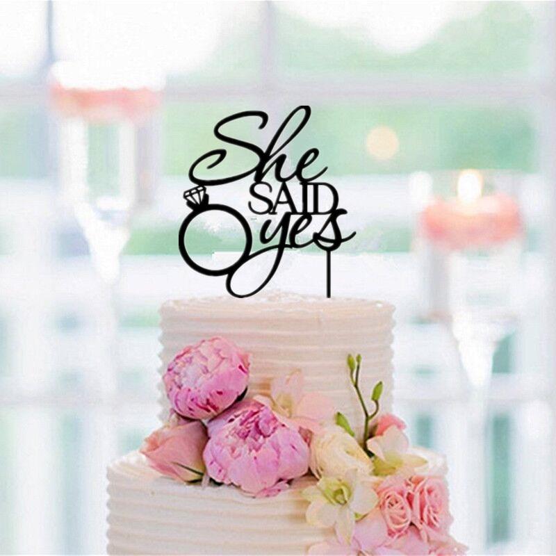 Sagte Sie Ja Kuchen Topper Hochzeitstorte Topper Hochzeitsdekoration