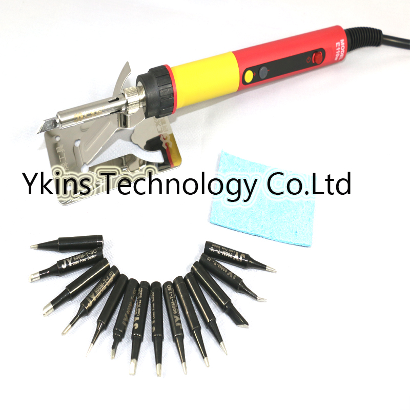 CXG E60W E90W E110W Digital LCD Adjustable NC thermostat Electric soldering iron handle Welding repair  14pcs JY soldering tip