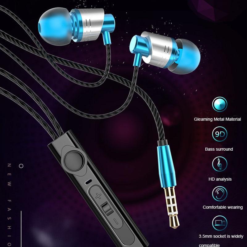 3.5mm headphones gaming earphone headset With wheat Remote headphone metal subwoofer headphones for phone mp3 4 computer mic