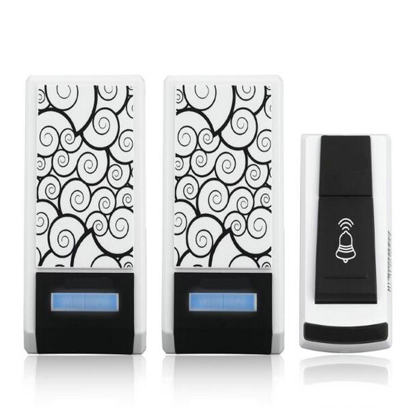 Wasserdicht Smart Home Drahtlose Turklingel Kit mit Ein Sender Zwei Receiver fur Ein Stockwerk Haus