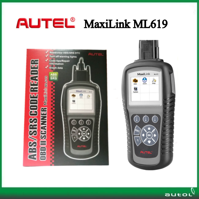 New Automotive Scanner Original Autel Maxilink ML619 OBD2 Scanner for Engine ABS SRS Airbag obd diagnostic