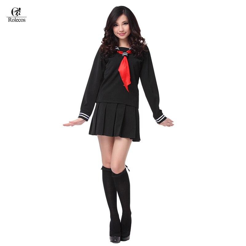 ROLECOS S-3XL põrgu tüdruk Enma Ai Cosplayi kostüüm Jaapani meremehe kooli ühtne must riided naiste kostüümimees tüdrukule suveks