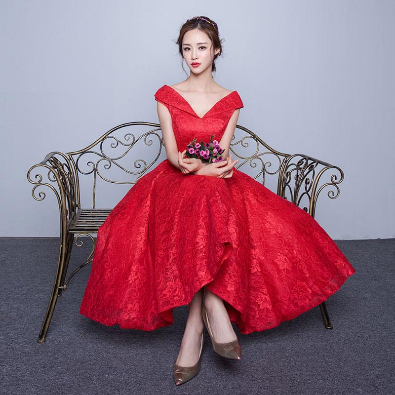 2016 new Hot sale robe de soiree Korean Style Off Shoulder ...