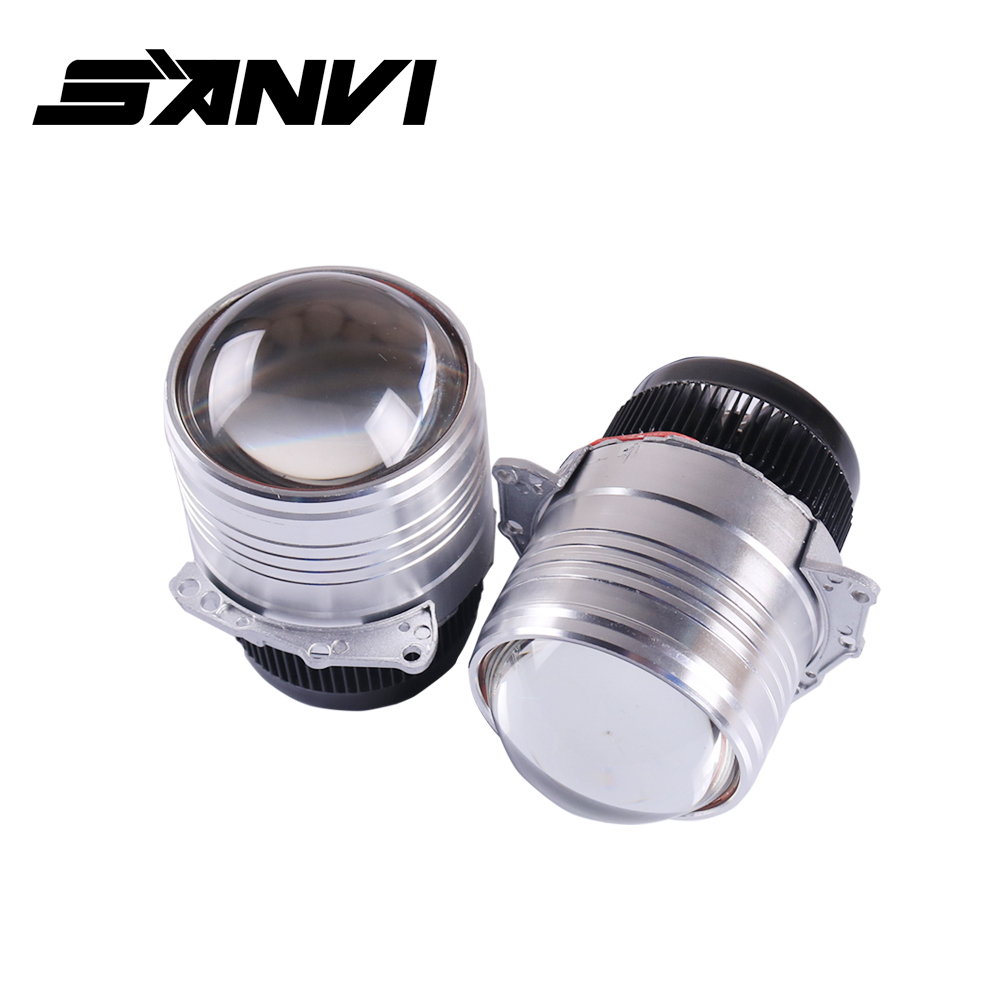 Free Delivery Sanvi 3inches 58W 6000k Hi Low Auto Beam Bi LED Projector Lens Headlight Car Styling Headlamp Retrofit Kits