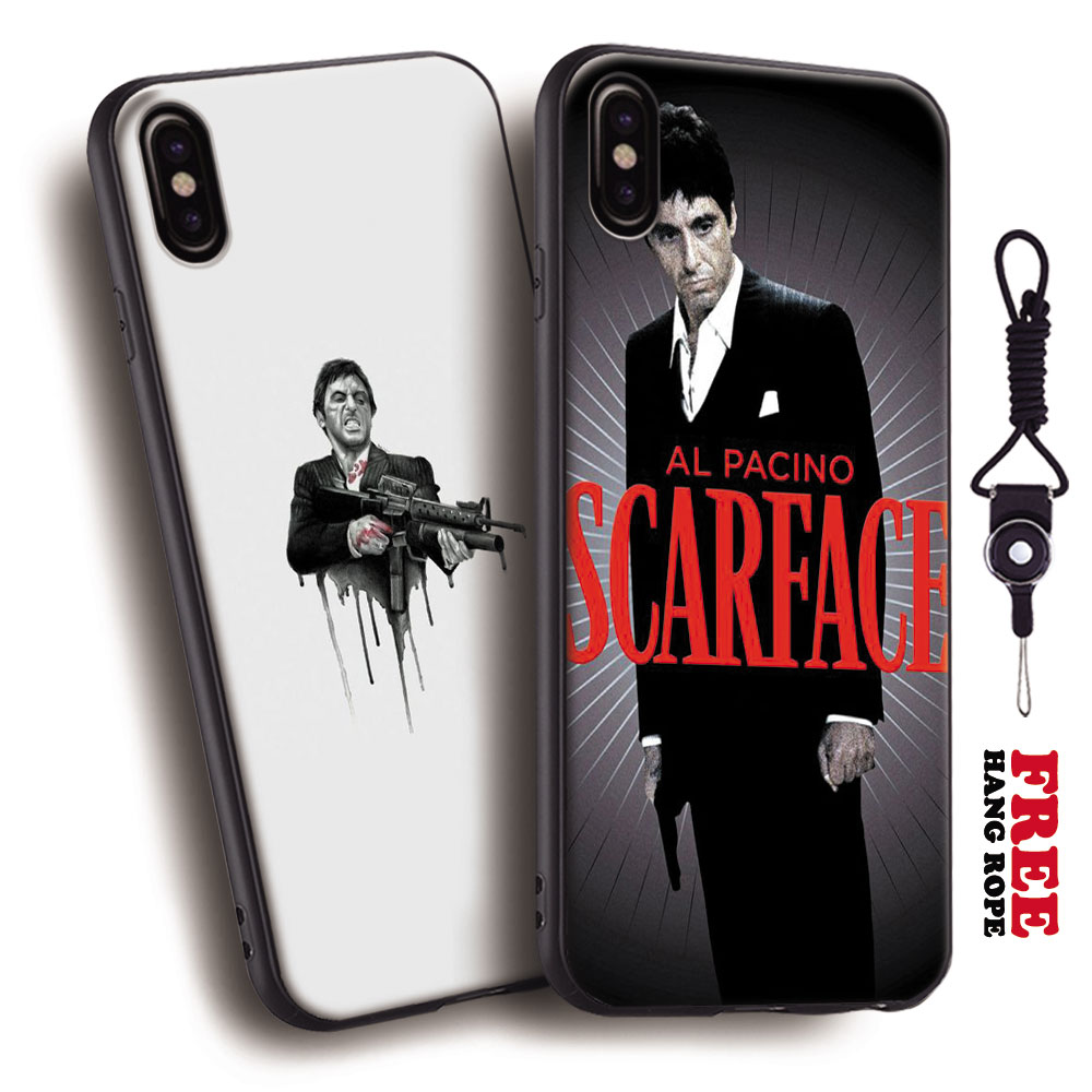 Scarface Al Pachino Tony Montana Gun Cocaine Movie Leather ... |Scarface Phone Case