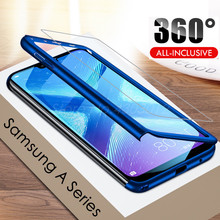 цена на 360 Full Protective Phone Case For Samsung Galaxy A3 A5 A7 2016 A6 A8 A9 2018 Full Cover For Samsung A5 A7 2017 Case With Glass