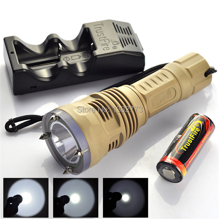 Trustfire underwater 100m CREE XM-L2 2000 Lumen LED 26650 battery dimming Diving Flashlight Torch +battery charger+holster