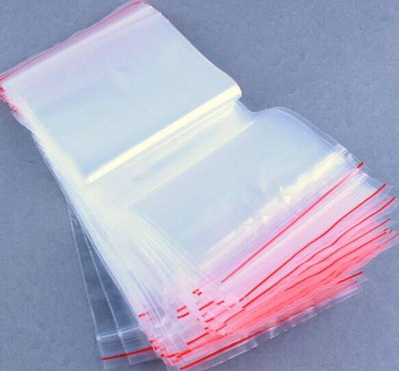"200pc 6/"" x 9/"" 2 Mil Clear Plastic Zip Lock Bag Zipper lock Bag Reclosable"