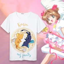 New Cardcaptor Sakura Kinomoto Cotton T-shirts for Women Student T Shirt O Neck Short Sleeve Summer Clothes Top Tees