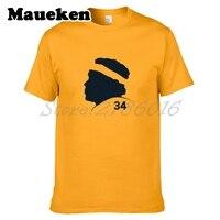 Hommes Chicago Walter Payton #34 Partisans En Liesse Public T Chemise de Coton D'été À Manches Courtes o cou T-shirt W0518051