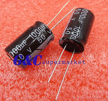 10PCS 1000uF 50V 105C Radial Electrolytic Capacitor 13x21mm New