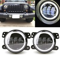4 Inch Round Led Fog Light Headlight 30W Projector lens With Halo DRL Lamp Offroad For Jeep Wrangler Jk Dodge hummer H1