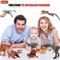 Oenux Neue Design Prähistorische Savage Jurassic Dinosaurier Action-figuren Therizinosaurus Spinosaurus T-Rex Feste Modell Spielzeug Für Kinder