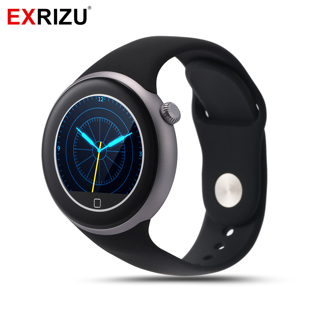 EXRIZU C1 Sport Smart Watch IP67 Waterproof Swimming Bluetooth Round Screen Heart Rate Monitor Steps Pedometer for Android iOS