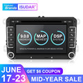 Isudar Car Multimedia Player Android 9 GPS 2 Din For VW/Golf/Tiguan/Skoda/Fabia/Rapid/Seat/Leon Canbus Automotivo DVD Radio DSP