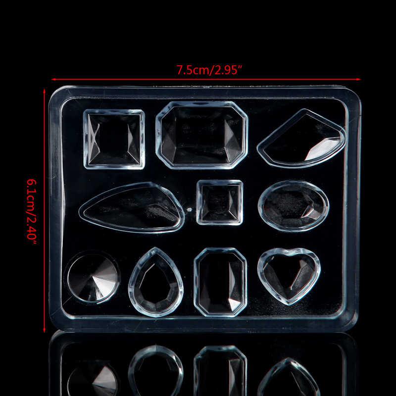 هندسي الراتنج حرفة صنع المجوهرات قلادة القرط سيليكون العفن أداة اليدوية