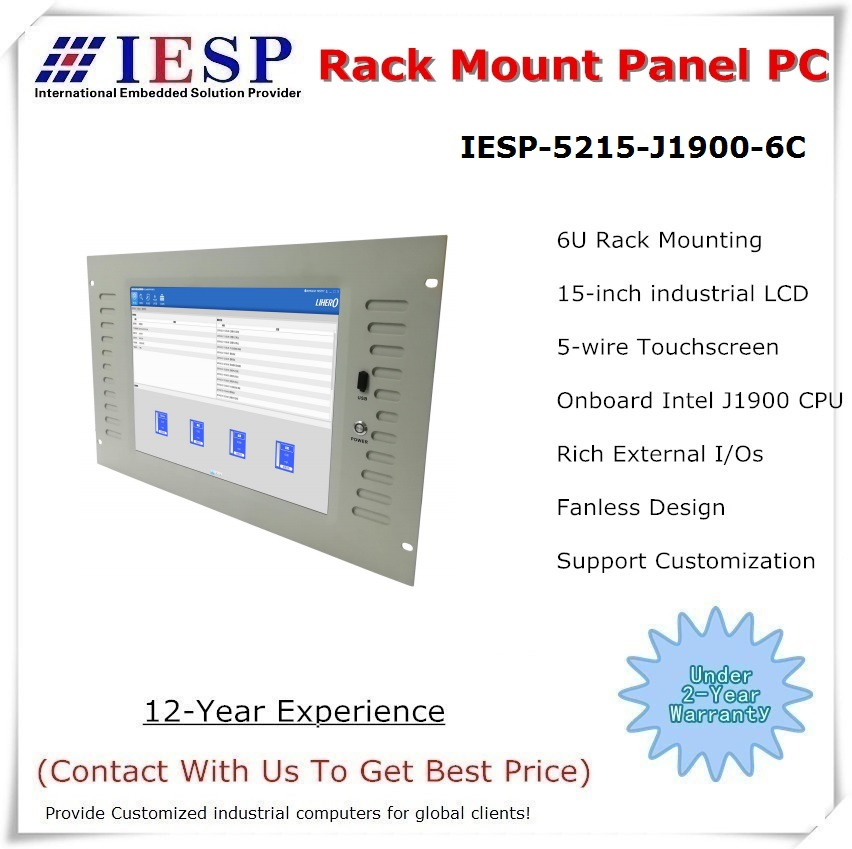15 Inch Fanless Industrial Panel PC, J1900 (i3/i5/i7) CPU/4GB DDR3/500GB HDD, Embedded Fanless Panel PC