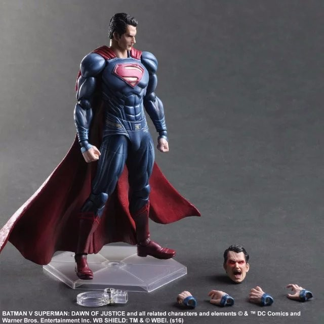 Superman Action Figure Clark Kent Model Toy PLAY ARTS Dawn of Justice PVC Action Figure Batman v Superman Playarts Kai PA20 play arts kai batman v superman dawn of justice no 3 armored batman pvc action figure collectible model toy 25cm