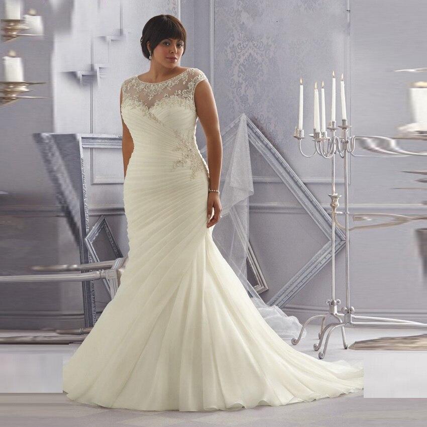 Aliexpress.com : Buy 2016 Plus Size Women Wedding Dresses Mermaid ...