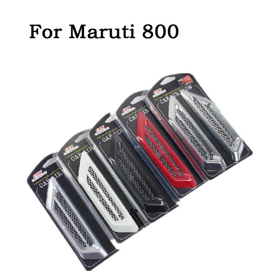 Hot sale car styling abs shark gills decoration stickers for maruti 800 sided accessories 2pcs