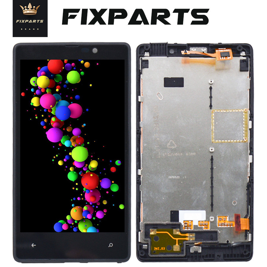 Original Black 4.3 LCD Display For Nokia <font><b>820</b></font> Touch <font><b>Screen</b></font> Digitizer Assembly For Microsoft Nokia <font><b>Lumia</b></font> 830 LCD RM-984 With Frame image