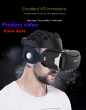 VR shinecon 4.0 Stereo Virtual Reality 3D Glasses Headset 360 Degree Immersive VR glasses headphone for 4.7-6.0 Inch Smartphone