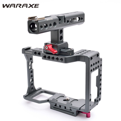 WARAXE A7 Kit Camera Video Cage NATO Rail Handle Grip Built-in Quick Release Fits Arca Swiss for Sony A7R A7S A7 II A7R II A7S