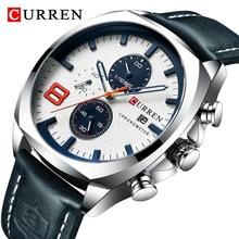 2021 üst marka CURREN lüks erkek saatler askeri Analog İzle erkek kuvars saat erkek spor Chronograph su geçirmez izle erkekler
