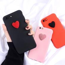 3D Cute Love Heart matte candy silicone Case For Huawei P10 lite P9 P20 Pro P8 Lite 2017 Nova Honor 6C 6A Honor 9 Mate10 lite