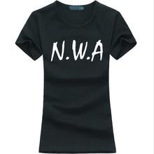 Funny cotton N.W.A Printed shirts for lady hipster hot sale punk women brand tshirt Summer fashion kawaii tee shirt Slim femme