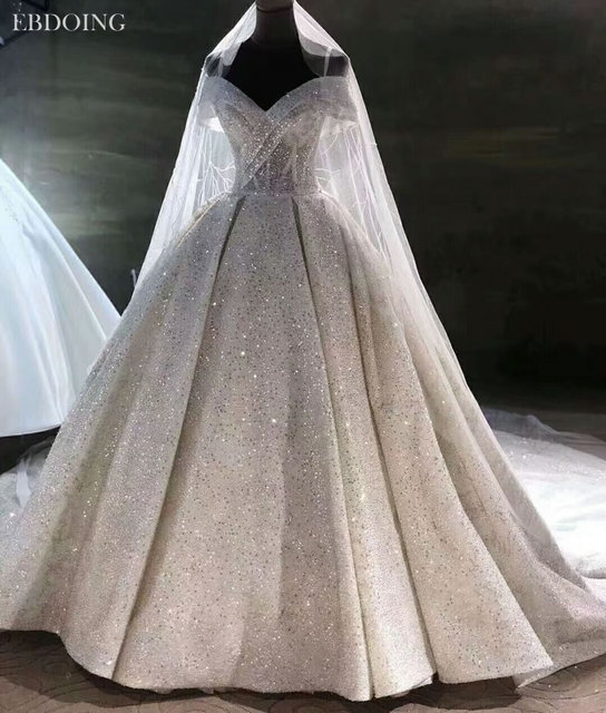 Vestidos De Novia Luxe Baljurk Trouwjurk Sweetheart Hals Korte Mouwen Lace Up Plus Size Wedding Groeien Bruid Jurk