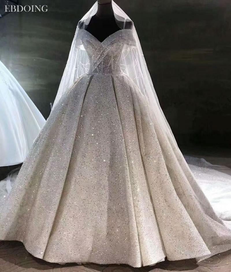 Vestidos De Novia Luxury Ball Gown Wedding Dress Sweetheart Neckline Short Sleeves Lace UP Plus Size Wedding Grow Bride Dress
