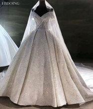 Vestidos デ · ノビア夜会服のウェディングドレス恋人ネック半袖レースのウェディング成長花嫁ドレス