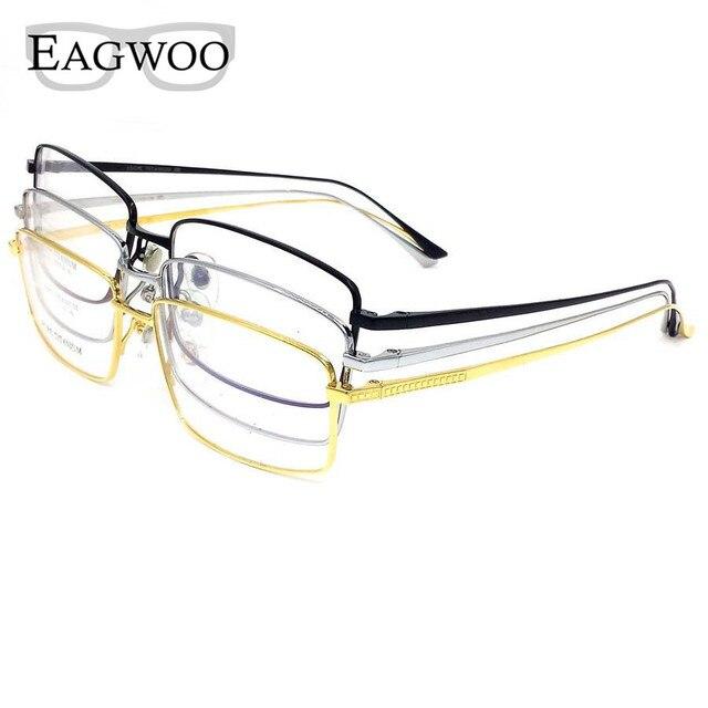 22d852f16a623 Titânio puro Óculos de Aro Cheio de Prescrição Frame Ótico Templo  Espetáculo Óculos Sem Armação Para