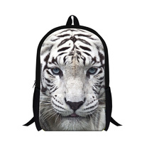 New Design Animal Zoo Backpack For Boys Tiger Animal Design For High School Book Bags Kids