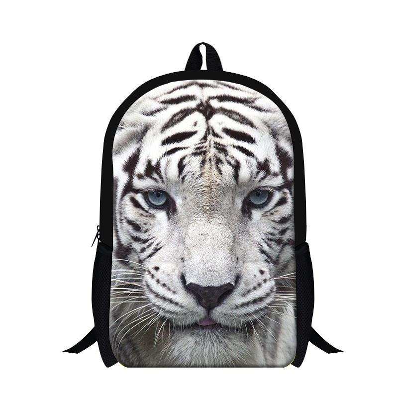 New Design Animal Zoo Backpack for Boys,Tiger Design for High School Book bags children,cool mochila Leopard Back Pack bookbags