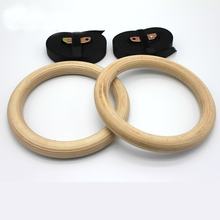 New Wooden 28mm Exercise Fitness Gymnastic Rings Gym