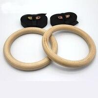 Nieuwe Houten 28mm Oefening Fitness Gymnastiek Ringen Gym Oefening Crossfit Pull Ups Spier Ups