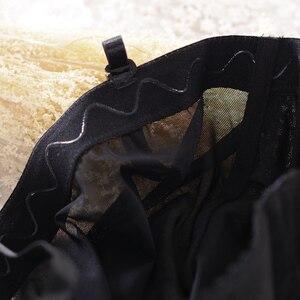 Image 4 - Sujetadores Europa y los Estados Unidos bordado de alta calidad cuerpo unido escultura negro tentación sexy encaje desmontable hombro