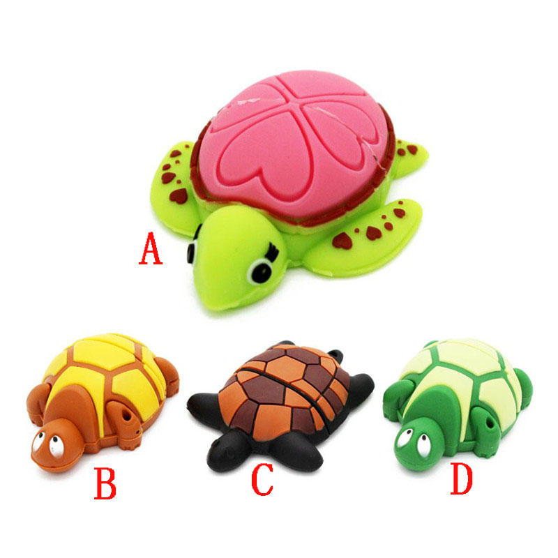 New Lovely Cartoon Tortoise USB Flash Drive Turtle Memory Stick Sea Turtle Pen Drive 4GB 8GB 16GB 32GB Pendrive Free Shipping
