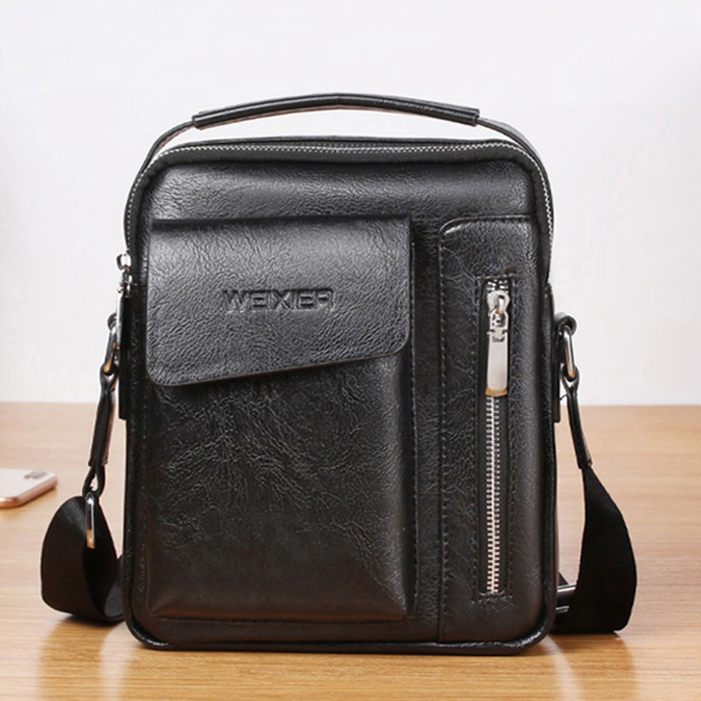 KKmhan Leather Messenger Bag Male Top Sell Simple Men