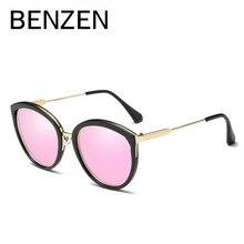 Бензола поляризованных солнцезащитных очков женщин Брендовая Дизайнерская обувь винтажные кошачий глаз женские Солнцезащитные очки женские солнцезащитные очки оттенки с случае 6328