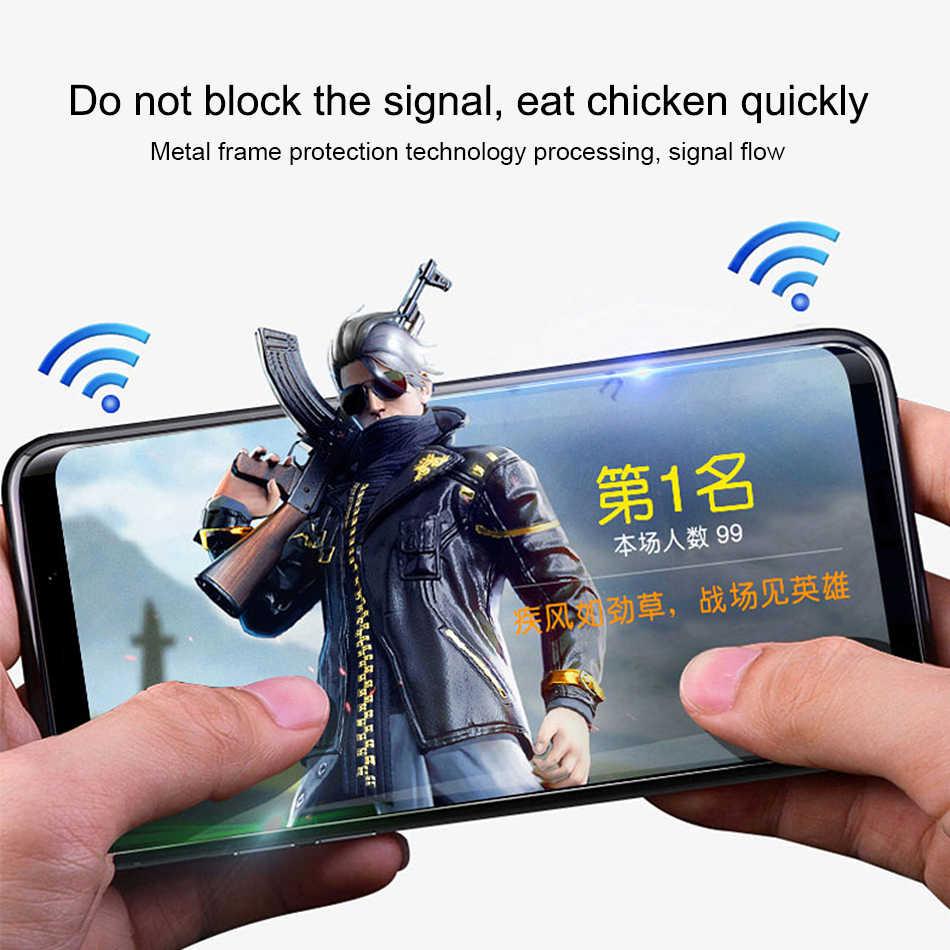 Lật Kim Loại Từ Miếng Kính Cường Lực Cho Samsung Galaxy A7 2018 A9 Note 9 8 S8 S9 Plus J6 J4 Bao vỏ Nam Châm Ốp Lưng Coque Giáp