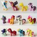 12/5-6 cm/set Toy Collection trinquete Lindo está patroled PVC Pony Unicornio muñeca Juguetes Para Niños de Cumpleaños de Vacaciones de Navidad Gif