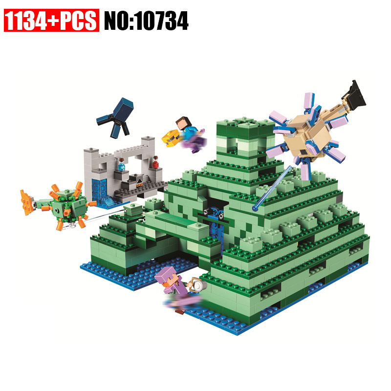 BELA 10734 Monumented Building Blocks Sets Bricks My worlds Movie Model Kids Minecrafted Toys For Children Compatible 21136 kazi 608pcs pirates armada flagship building blocks brinquedos caribbean warship sets the black pearl compatible with bricks